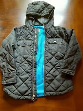 Old Navy Boys Size 5 Extra Small Jacket Coat Quilted Black Blue