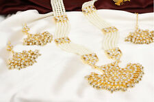 Earring Designer Bridal Jewelry Set Traditional Indian Bollywood Pearl Necklace
