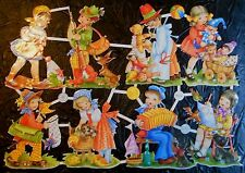 Vintage Die Cut Scrap Paper Glanzbilder Oblaten Children Playing Out PZB 1402