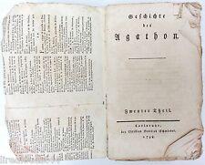 Geschichte des Ugathon Agathon von Gottlieb Schmieder 1798 en allemand 3 tomes