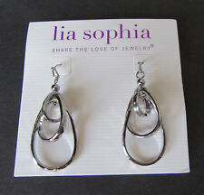 8M Lia Sophia Jewelry Free Flyer Earrings in Silver RV$36