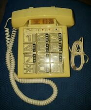 Vintage Big Button Corded Tan Phone