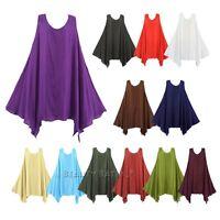 Lagenlook Dress Tunic Plus Size Long Top XS S M L 1X 2X 2 4 6 8 10 12 14 16