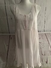 Victoria's Secret Country Quality Cottons Small Nightgown Pink Floral Ruffle