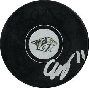 Eeli Tolvanen signed Nashville Predators NHL Hockey Puck #11