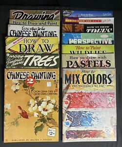 Lot 13 Vintage Walter T Foster How To Draw Art Instruction Books Painting Color