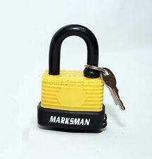 50mm Outdoor Weather Proof Laminated Garage Shed Lock Steel Padlock 2 Key Yellow