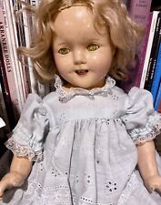 "18"" Antique 1934 Composition Ideal Estate Find Fixer Upper Shirley Temple Doll"