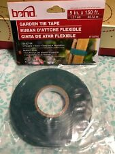 Bond Garden Plant Stretch Tie Tape Ribbon Green Trellis Craft .5in. X 150 Ft.