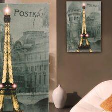 LED Leucht Bild Restaurant Cafe Leinwand Lifestyle Licht Eiffel Turm Big Light