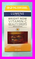 Lumene Finland Bright Now BEAUTY DROPS Vitamin C Anti-Aging Skincare 28 pcs NEW