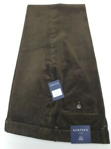 Gurteen Men's Corduroy Trouser 100% Cotton - Colour:- Green - BNWT - 2021