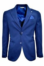 Alessandro gilles Jacket Unlined Man Slim Fit Gtel 0734 Blue