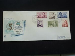 Australia wesley wcs first day cover FDC 1966 set 6 Navigators #2