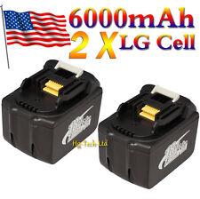 2 Pcs 6000mAh Makita BL1860 BL1845 18V LXT Lithium-Ion Battery Pack 6.0Ah 18Volt