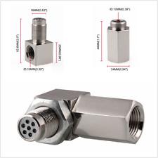 90°Oxygen Sensor Spacer Engine CEL Check Bung Mini Catalytic Converter For O2