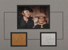 F-TROOP-LARRY STORCH & FORREST TUCKER-RARE! SIGNED CARDS & PICTURE DISPLAY-AFTAL