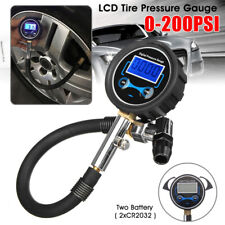 1x LCD Digital Tyre Tire Pressure Gauge Air Inflator Pump 0-200PSI Car Tool US