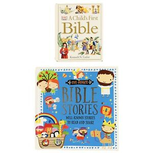 Five Minute Bible Stories and A Child's First Bible Books - 2 Book Bundle