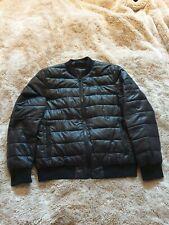 Karl Lagerfeld Black Bomber  Slimline Puffa Jacket-Down Filled-Ladies Large