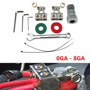 Terminales De Bateria De Calibre 0-8GA Con Positive Negative Battery Clips Kit