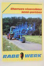 prospectus brochure charrue réversibles semi portées Rabewerk  tracteur