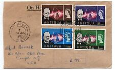 Antigua 1966 Churchill Commemorative set on Registered FDC to US