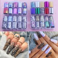 Starry Sky Laser Nail Foil Holographic Nails Art Transfer Sticker Manicure Tips