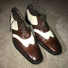 Stacy Adams Dress Shoes - Size 13 D - Brown/White Leather