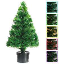 vidaXL Artificial Christmas Tree Fibre Optic Lights 64cm Green Xmas Home Decor