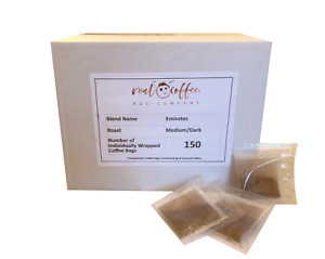 Real Coffee Bag Company Box of 150 Individually Wrapped Coffee Bags