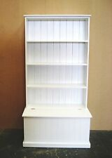 6Fx3F Solid Pine Bookcase With Storage Box In White