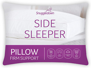 Snuggledown Side Sleeper White Pillow Firm Support Designed for Side Sleepers