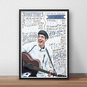 Gerry Cinnamon Poster / Print / Wall Art A3 / Erratic Cinematic Album / Belter