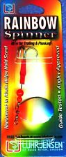 Luhr-Jensen Brass #7 Rainbow Spinner Red Blue Pearl Cast & Trolling Fishing Lure