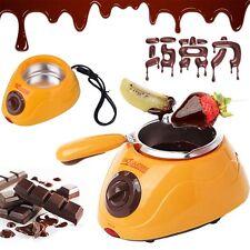 Hot Chocolate Melting Pot Electric Fondue Melter Machine Set DIY Tool Yellow YG