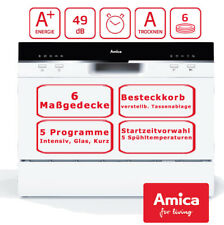Amica Tischgeschirrspüler Spülmaschine Startzeitvorwahl 6 Maßgedecke 5 Programme