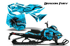SKI-DOO REV XM SUMMIT SNOWMOBILE CREATORX GRAPHICS KIT DRAGON FURY BLUE ICE