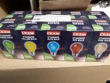10 X 25 WATT BC COLOURED GLS FESTOON INDOOR /OUTDOOR LAMPS LIGHT BULBS