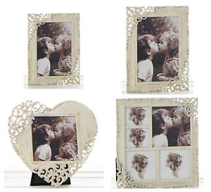 Old Cream Vintage Lace Ornate Rustic Metal Photo Frames - Various Sizes