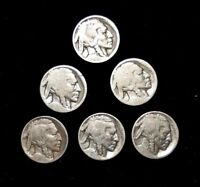 LOT OF 6  - BUFFALO FIVE CENT- GOOD CONDITION