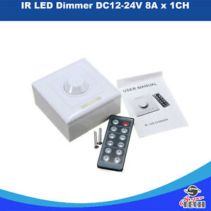 IR LED DIMMER Switch Low Voltage DC12-24V 8A X 1 CH with 12 Key Remote UK Seller