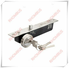 Electric Drop Bolt Strike Door Lock with Key Fail Secure NO + Time Delay +Signal