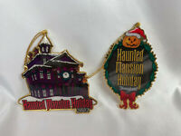 2 Haunted Mansion Holiday Christmas Ornaments ~ Walt Disney Travel Company