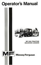 Massey Ferguson Mf 50a Mf50 A Tractor Backhoe Loader Operators Manual