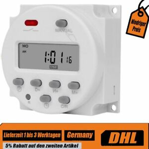 Digitale LCD Zeitschaltuhr AC/DC 12V Programmierbar Timer schalter Relais DHL