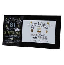 Vintage Signography Range Birthday Photo Frame - 21st Birthday