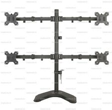 """EZM Quad 4 LCD LED Monitor Mount Stand Free Standing - up to 27"""" (002-0015)"""