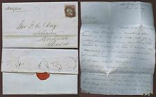 GB QV 1849 LONDON INLAND OFFICE No.12 TOOLEY ST to BRIDPORT LETTER C.DRAGE +SEAL