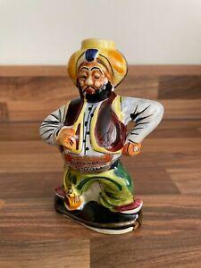 Drioli Vintage Italian Decanter Bottle - Ceramic - Sikh Indian Man Figurine